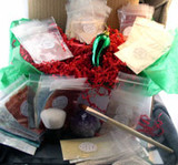 Vegan Holiday Gift Box Give Um Green Started Kit AND Glass Christmas Pickle Ornament and Legend of the Christmas Pickle