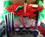Vegan Holiday Gift Box Ultimate Eyes Kit AND Glass Christmas Pickle Ornament and Legend of the Christmas Pickle