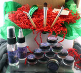 .Vegan Holiday Gift Box Ultimate Shadow Kit AND Glass Christmas Pickle Ornament and Legend of the Christmas Pickle