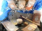Vegan Hanukkah Gift Box Give Em Green Starter Kit AND Wooden Dreidel
