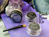 Vegan Mineral Black Brow Powder Kit