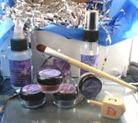 Vegan Hanukkah Gift Box Eyes Have It Stocking Stuffer Shadow Kit AND Wooden DreidelFrom theallnaturalface
