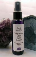 Spray On Liquid Crystal Deodorant Orange Blossom