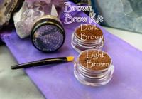 Vegan Mineral Brown Brow Powder Kit