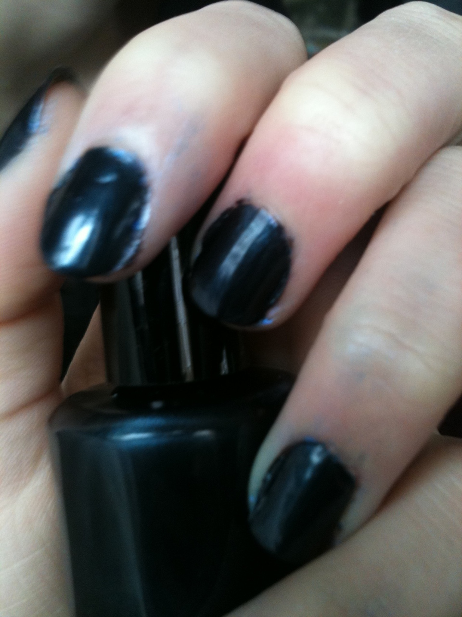 Midnight Blue Nail Polish - The All Natural Face