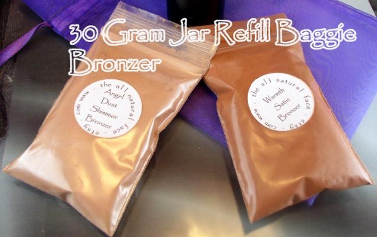 Vegan Large Refill Baggies for 30 Gram Jars of Bronzer