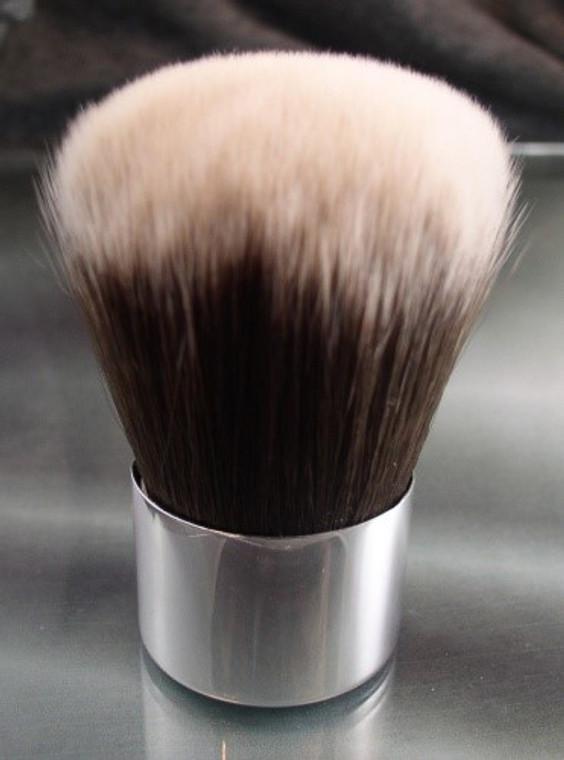 Vegan Kabuki Brush Silver Tipped