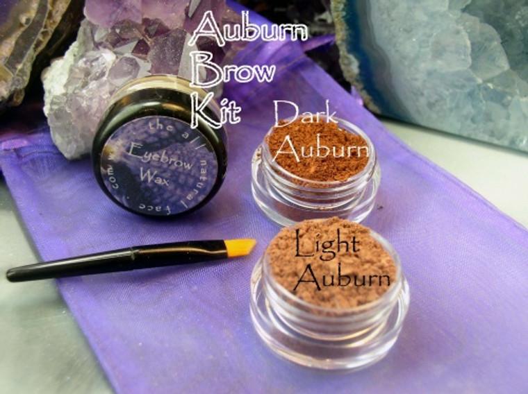 Vegan Mineral Auburn Brow Powder Kit