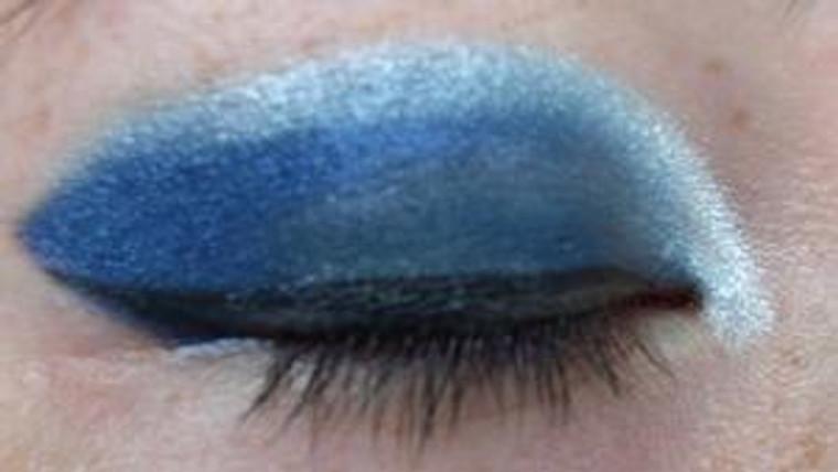 Pressed Vegan Mineral Eyeshadow - Deep Steel Blue