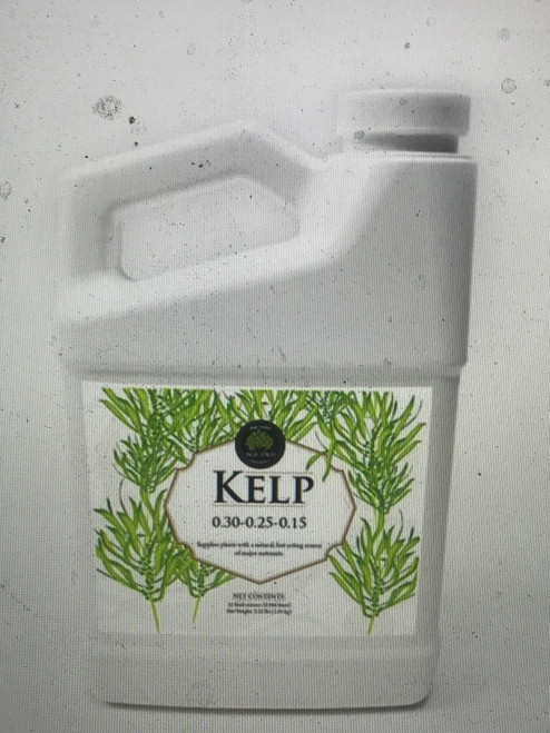 Kelp 0.30-.025-.015   Supplies plants with a natural, fast-acting source of major nutrients.      Increases biological activity in the soil     Made from Ascophyllum nodosum, a sustainably harvested, nutrient-rich sea kelp     Aids in antioxidant production in plants     Supports seed germination     Improves nutrient uptake with natural chelators