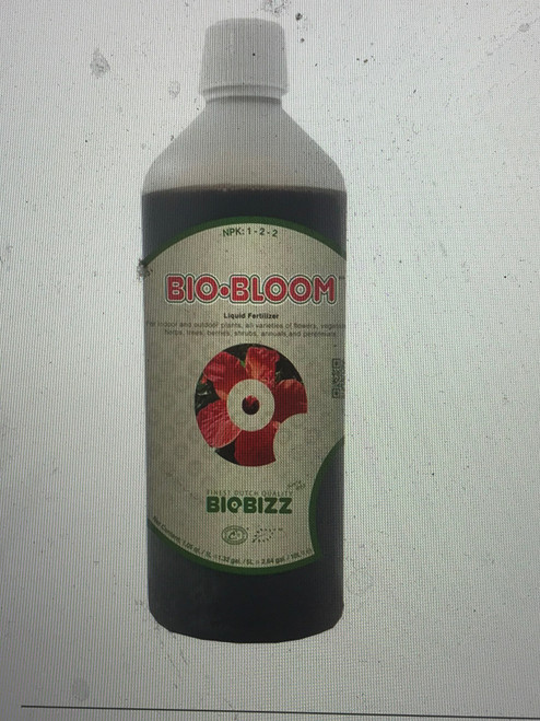 Bio-Bloom liquid organic plant food is a complete liquid organic fertilizer containing a small amount of naturally occurring minerals such as nitrogen and and enough phosphorous and potassium to ensure exuberant flowering and fruit settings. Bio-Bloom also works in harmony with the soil to promote flowering and fruit production.  Use Bio-Bloom with soil, soilless, or fortified coco as a complete fertilizer from the beginning of fruit or flower production until harvest.
