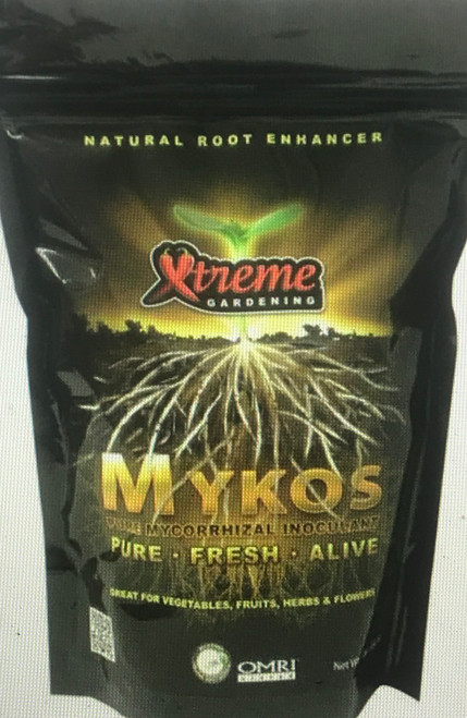 "Mykos - Pure, Fresh & Alive: Being beneficial organisms, mycorrhizae live on the roots of plants and form a symbiotic relationship. They then extend microscopic straw-like filaments called ""hyphae"" into the soil with which they extract, transport, and dramatically increase a host plant's supply of nutrients and moisture. Pockets of nutrients and water in the soil which were once unreachable by standard root systems are now made accessible through the ""super-mining"" effects which mycorrhizae gifts to your plants.  Mycorrhizae also release a glue-like substance into the soil (Glomalin) which improves water storage and capacity, leading to lower watering costs. Although ideal for use on all plants, mycorrhizae are especially beneficial toward: tomatoes, herbs (thyme, basil, sage, etc.), pumpkins, beans, bulbs (all), squash, cantaloupe, carrot, celery, corn, cucumber, garlic, leek, lettuce, melon, onion, peas, potato, strawberry, and grape varietals.  Mycorrhizal fungi are ancient in origin and the benefits are boundless. Pound for pound, mycorrhizae provide plants with the greatest possible benefit for the smallest amount of input. With a single inoculation, mycorrhizae are capable of transforming the ordinary garden into something Xtreme!"