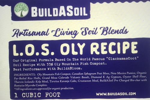 BuildASoil's Original Recipe! This water only mix was based on the famous Clackamas Coots recipe and it changed everything. After years of growing in this potting soil and hand making it for others, I Founded BuildASoil.com to share the soil and its ingredients. Years afterward, we began to learn about soil testing and started to step out and make our own recipes. This original recipe is one of the worlds most famous potting soils and it has started numerous well-intentioned soil companies. We will continue to make it and the soil building kits based on it forever  1 Part Oly Mountain Fish Compost  1 Part Sphagnum Peat Moss   2/3 Part Pumice  1/3 Part Rice Hulls  Now with 5% Pre-Charged Colorado Bio Char!! Nutrients included in the soil:   Acadian Kelp Meal @ 1/2 Cup Per Cubic Foot  Crustacean Meal @ 1/2 cup Per Cubic Foot  Terviva Karanja Cake @ 1/2 Cup Per Cubic Foot  Brix Blend Basalt @ 2 Cups Per Cubic Foot  Gypsum Dust @ 1 Cup Per Cubic Foot  Oyster Flour @ 1 Cup Per Cubic Foot