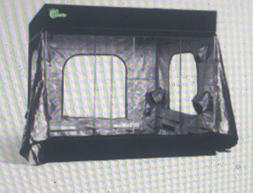 Hydro Crunch Mylar Hydroponic Grow Tents are made specifically for indoor plant growth. Made with all metal construction, our grow tent uses 300D Oxford cloth lined with 100% reflective Mylar fabric. Multiple vents are strategically placed to accommodate fan and filters. Ventilation windows, air and cable vents are designed and located to minimize light loss. Hydro Crunch grow tents are durable, fully washable and great for you to grow exotic fruits, herbs, vegetables anywhere anytime. Hydro Crunch 96 in. x 96 in. x 80 in. Mylar Grow Tent: Constructed with strong and durable materials. Quick and easy to assemble heavy duty polypropylene/metal corners. Fully washable interior and exterior heavy duty poles to accommodate hanging of heavy equipment. 2 sealable viewing windows on main door. Rectangle vents use high density window screen (20 in. x 2.7 in.) to keep insects out. Highly reflective Mylar lining and water resistant. Floor tray included. Color: Black and Green. Style: Home box installation instruction. Use: Seeds and Plants.  Exterior material, heavy duty 300D oxford cloth Inner lining material: 100% highly reflective water proof mylar Quick and easy to assemble Constructed with strong and durable materials Heavy duty polypropylene/metal corners Heavy duty poles to accommodate hanging of heavy equipment