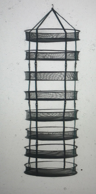 "STACK!T Collapsible Mesh Drying Rack  Breathable mesh allows for maximum air circulation so flowers and herbs dry fast! Eight individual drying chambers. Collapses flat for storage in the handy zippered case.      Breathable mesh for quick drying of flowers & herbs     Lightweight and easy to hang     Easy to hang with included carabiner clip and hook-and-loop fastener loops     Strong wire frames   Includes:      8 - 24"" mesh trays     Carabiner clip for hanging     Storage case     Measures 6 feet tall when fully extended"