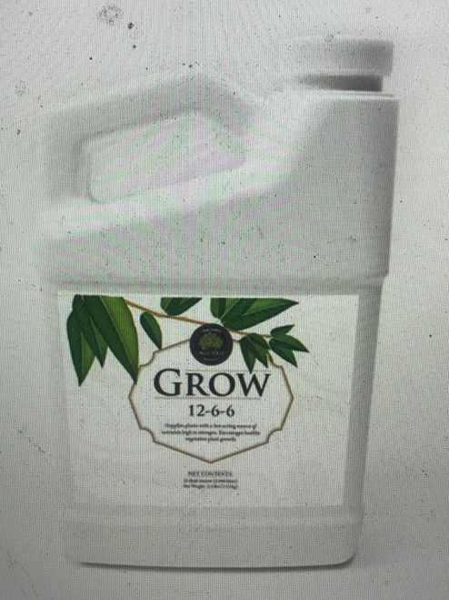 Grow 12-6-6  Grow is a natural based, odorless, high nitrogen, plant fertilizer. It has a 2-1 nitrogen ratio to enhance a plants growth and vigor. It encourages early growth, greater flowering and better fruit set for all indoor and outdoor plants. Liquid Grow may be used as both a foliar feed and a soil drench. Use Grow on your plants during the vegetative stage.