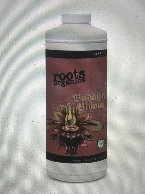 Roots Organics Buddha Bloom is a one part organic flowering nutrient formulated for potting soil and potting soilless gardens. Buddha Bloom is a proprietary blend of the finest organic ingredients specifically created to promote vigor, increase yields and enhance quality in potting soil grown plants during the flowering stage of their life. Worldwide sourcing and deliberate design extracted and condensed into an exceptional liquid blend targeted to encourage excellence from your plants.