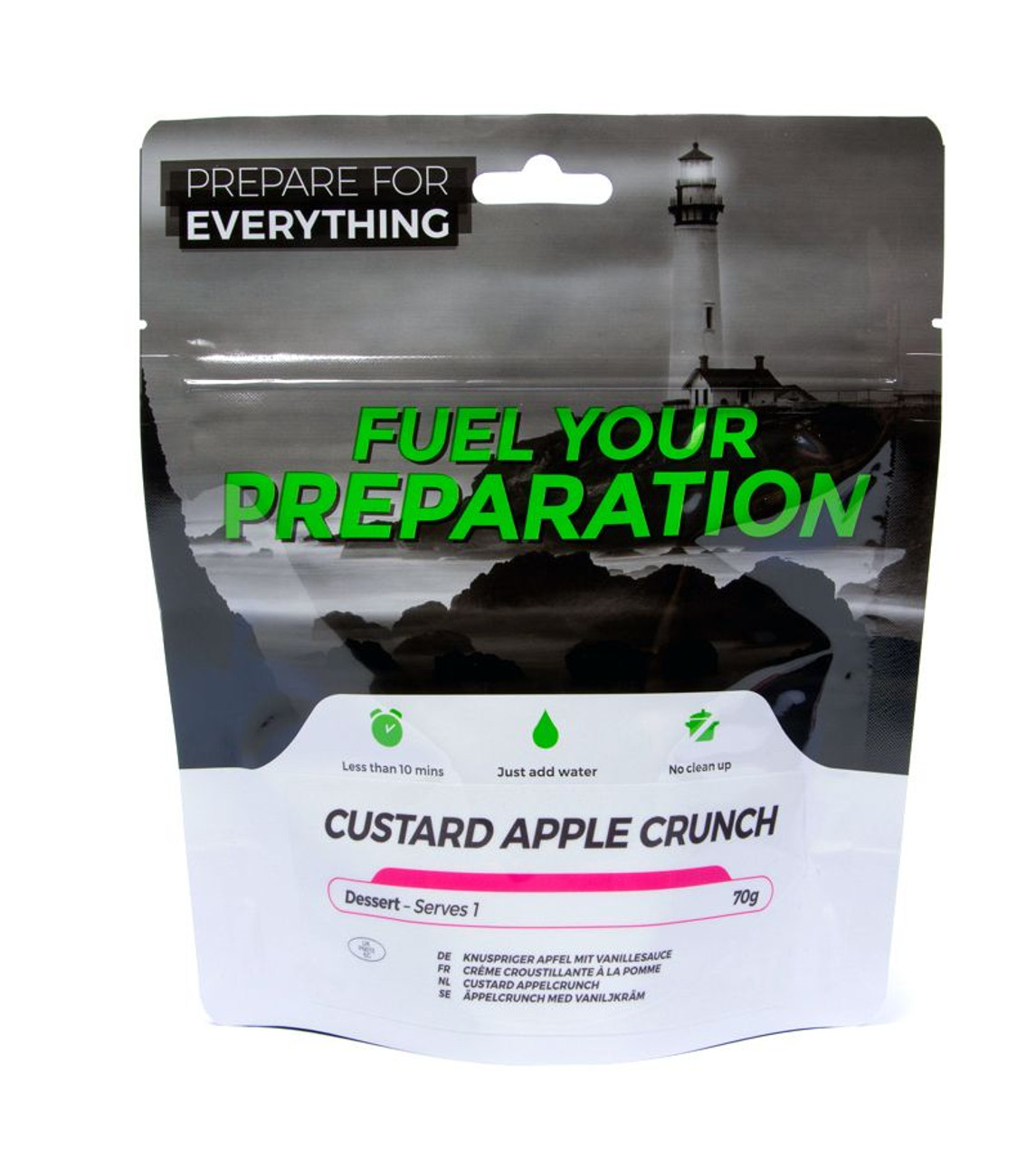 Custard With Apple Crunch Freeze Dried (Pouches)