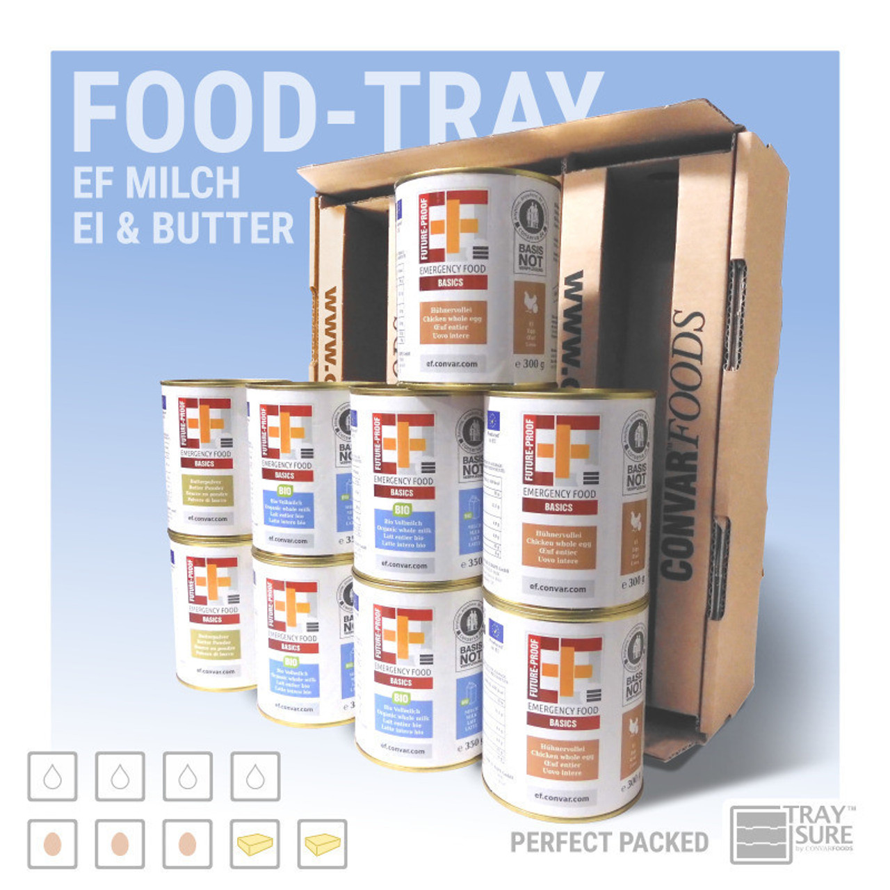 Convar EF Food Tray - Milk/Egg/Butter 15 Years