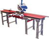 QSMT-6.5x4-FS-S QuickSilver Miter Saw Tables, 6.5ft. - 4ft., solid top, by Hoffmann-USA