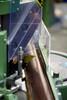 Close-up 2 - MORSO EFG electric miter cutting machine - 220 volt - 3 phase (N20095-3P)