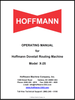 X25 Manual Cover for Hoffmann Dovetail Routing Machines
