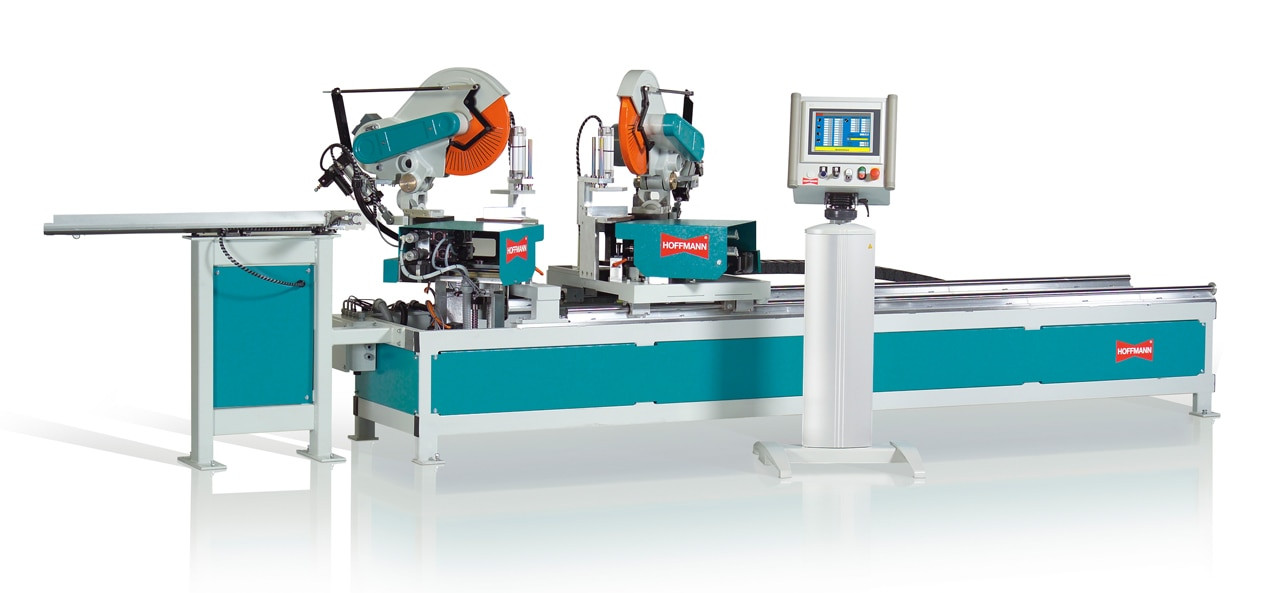 Hoffmann MX-5 Double-End Miter Saw with dovetail routing and dowel hole drilling stations
