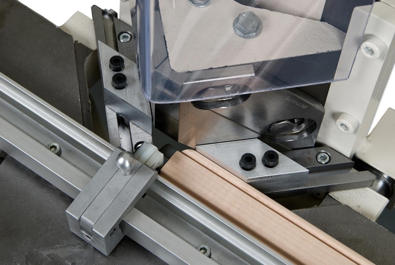 N0076 - Morso NM manual face frame notching machine - rail coping operation, by Hoffmann-USA.com