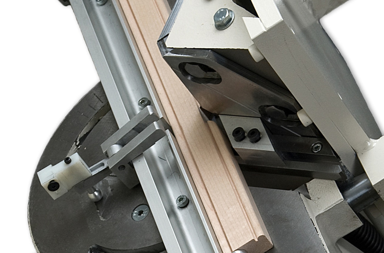 N0076 - Morso NM manual face frame notching machine - stile notching operation, by Hoffmann-USA.com