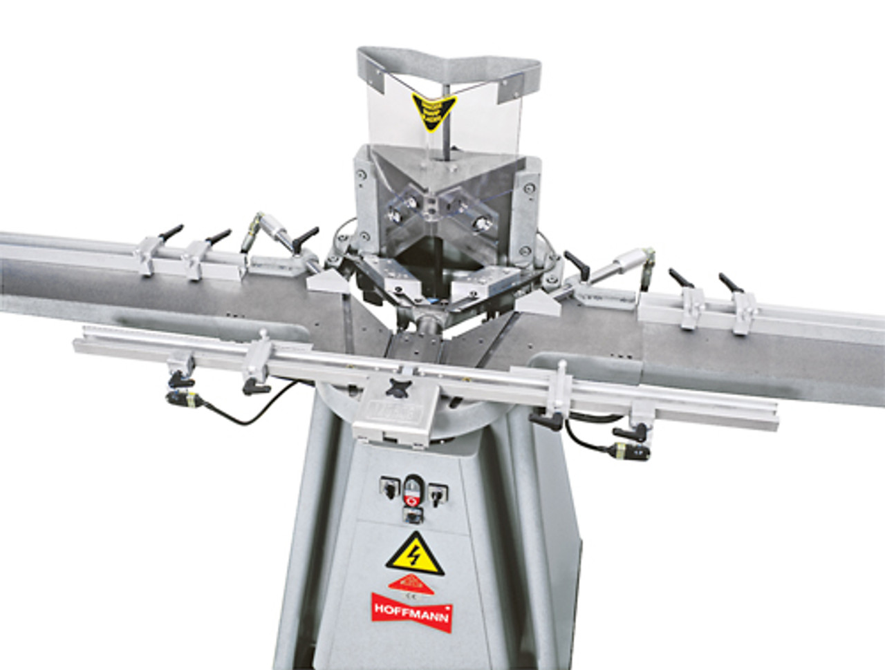 MORSO NXLEH electro-hydraulic face frame notching machine by Hoffmann-USA.com