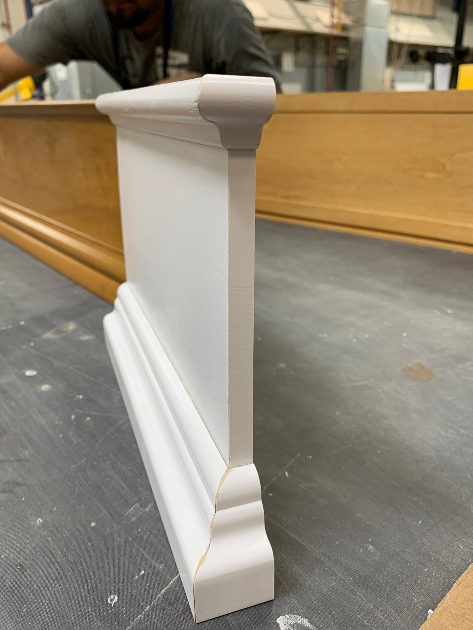 Finished Cornice Plate with minimal return