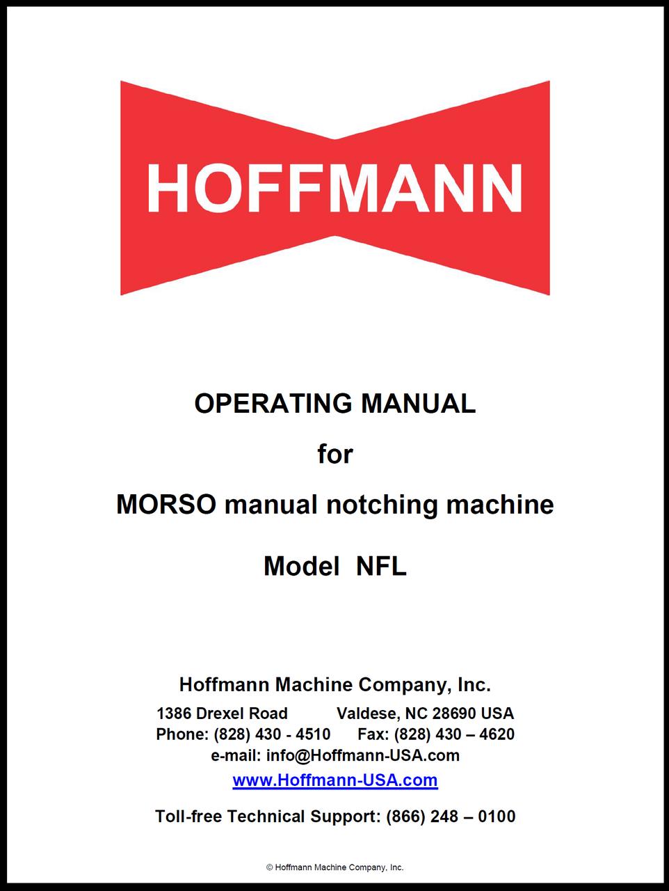 Operating Manual for Morso NFL