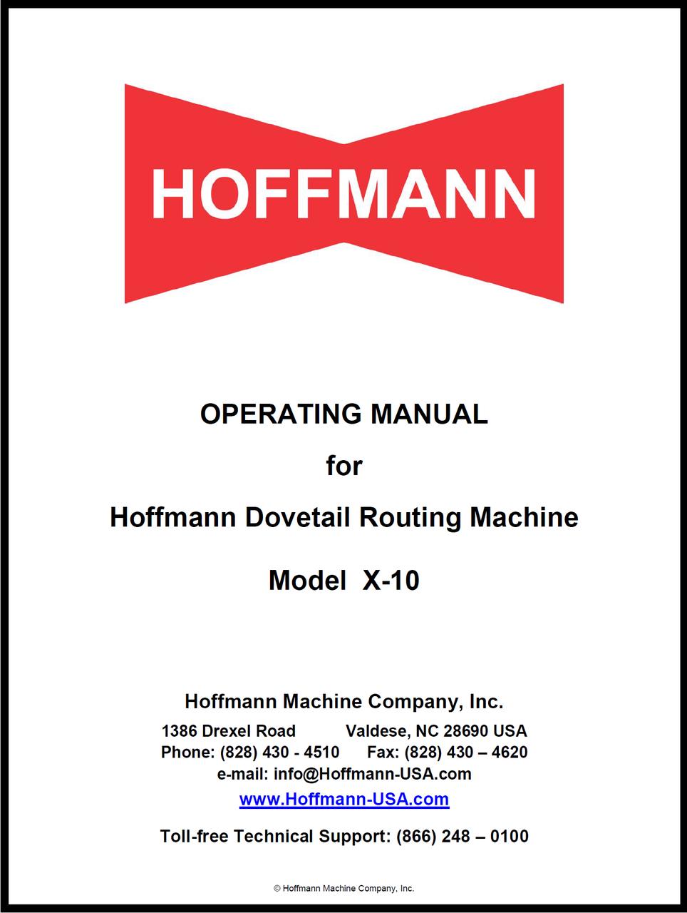 x-10 Operating Manual