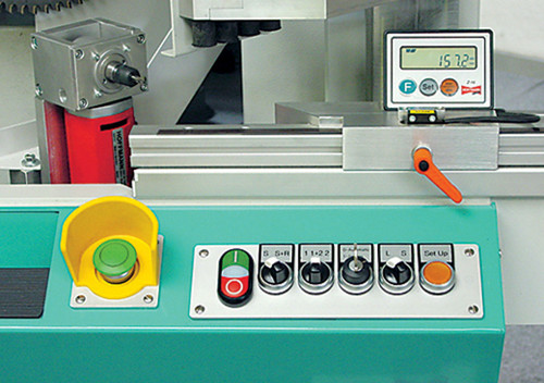 Hoffmann MS40SF Double Miter Saw - control panel detail