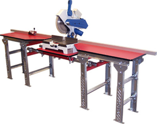 QSMT-8.5x4-FS-S QuickSilver Miter Saw Tables, 8.5ft. - 4ft., solid top, by Hoffmann-USA