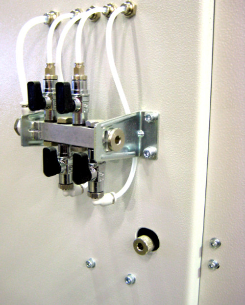 M3010007 Safety Switch with mechanical Time Delay - installed on MS-series double miter saw
