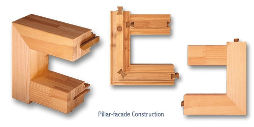 Hoffmann W-4 Dovetail Key, pillar facade joinery