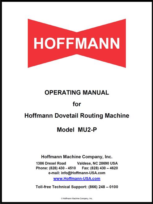 Hoffmann MU2-P Operating Manual