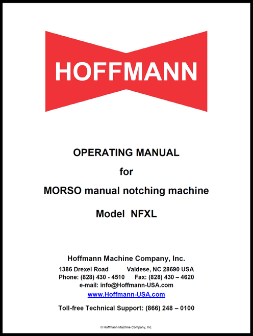 Operating Manual for Morso NFXL