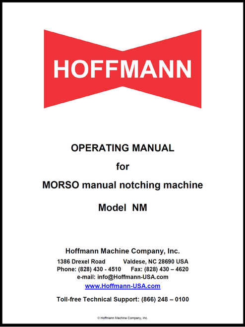 Morso NM Manual Cover