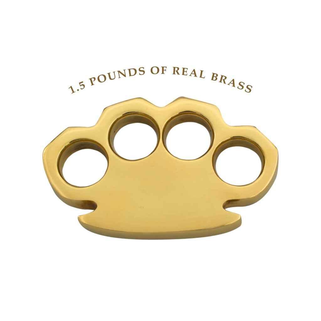 Knockout Knucks The Hammer First Brass Knuckles - 1.5 lbs REAL Brass
