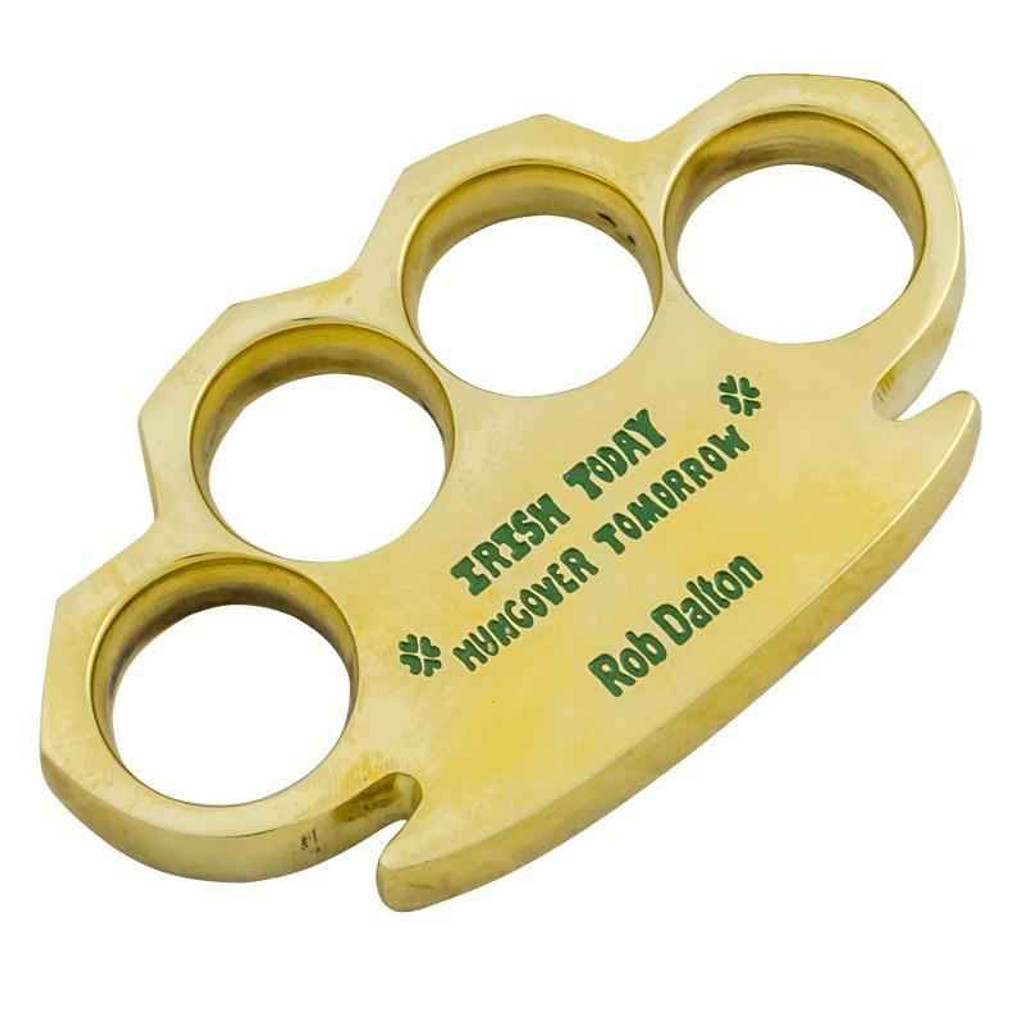 Knockout Knucks Real Brass Knuckles - Irish Today Hungover Tomorrow