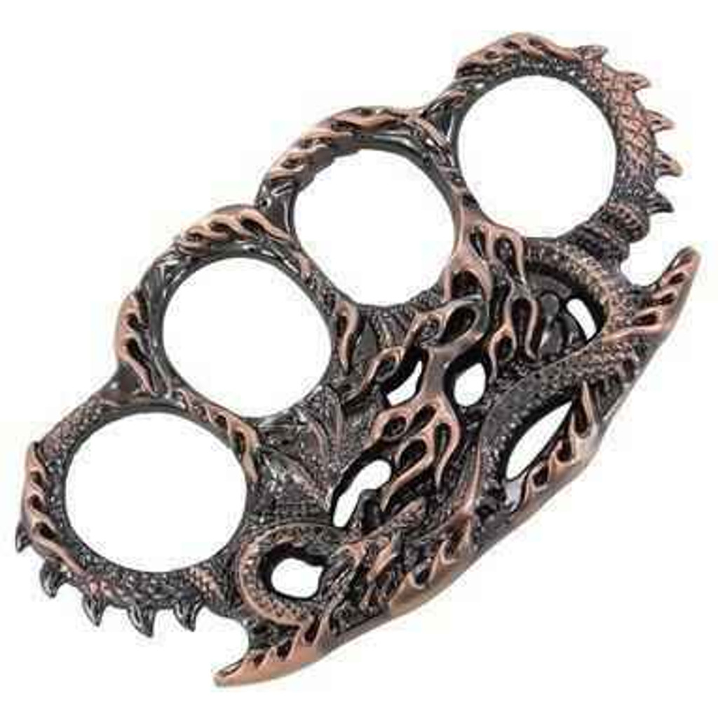 Knockout Knucks Draconic Protection Brass Knuckles Copper