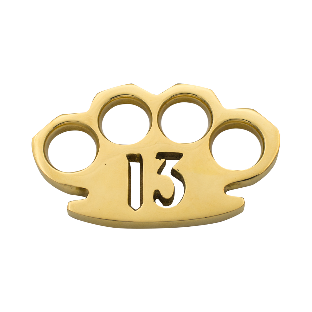 American Made 13 Deadly Reasons Brass Knuckles