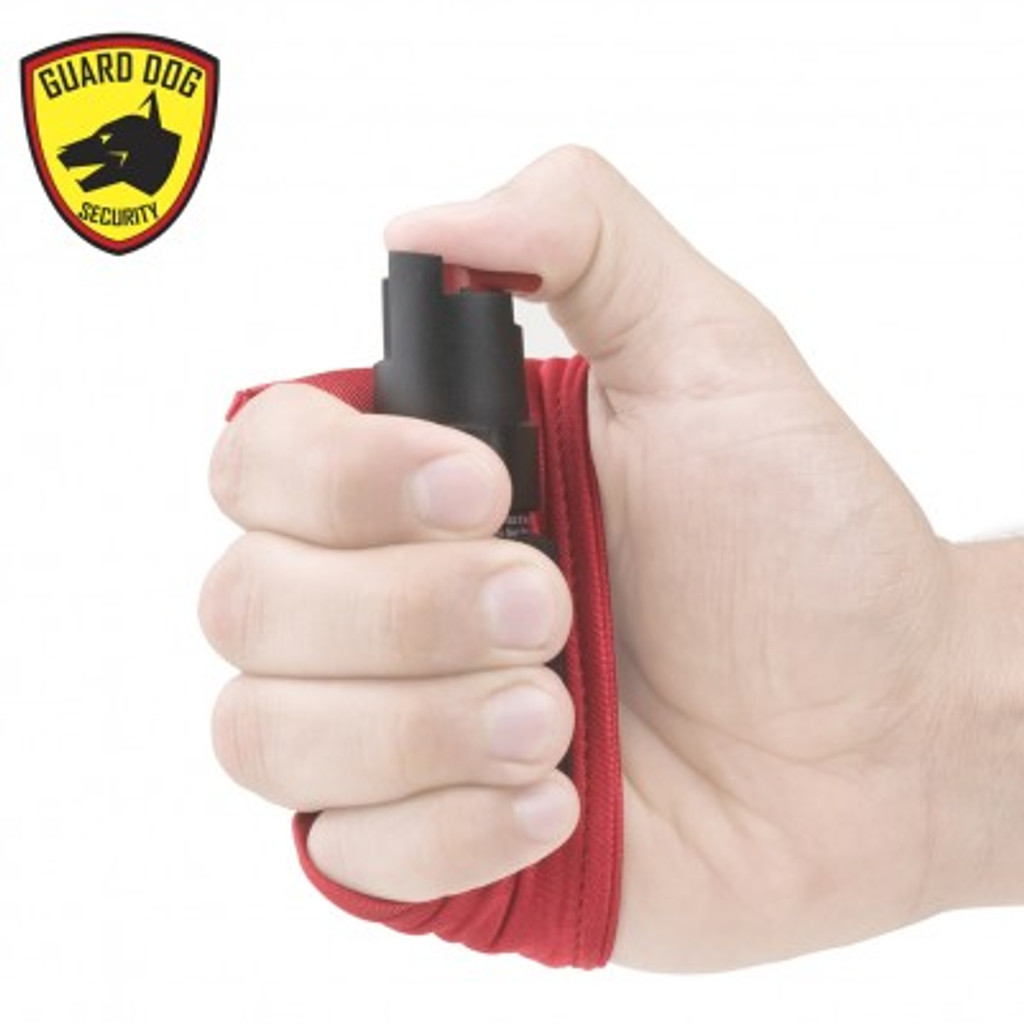 1/2 oz Red Personal Defense Pepper Spray w/ Activewear Hand Sleeve