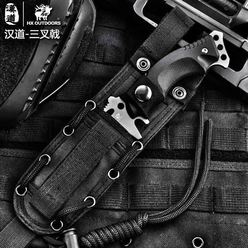 Knockout Knucks High Speed Black Army Survival Knife
