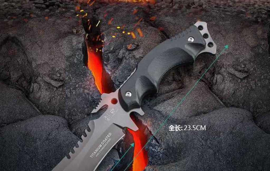 Knockout Knucks High Speed Black Army Survival Knife