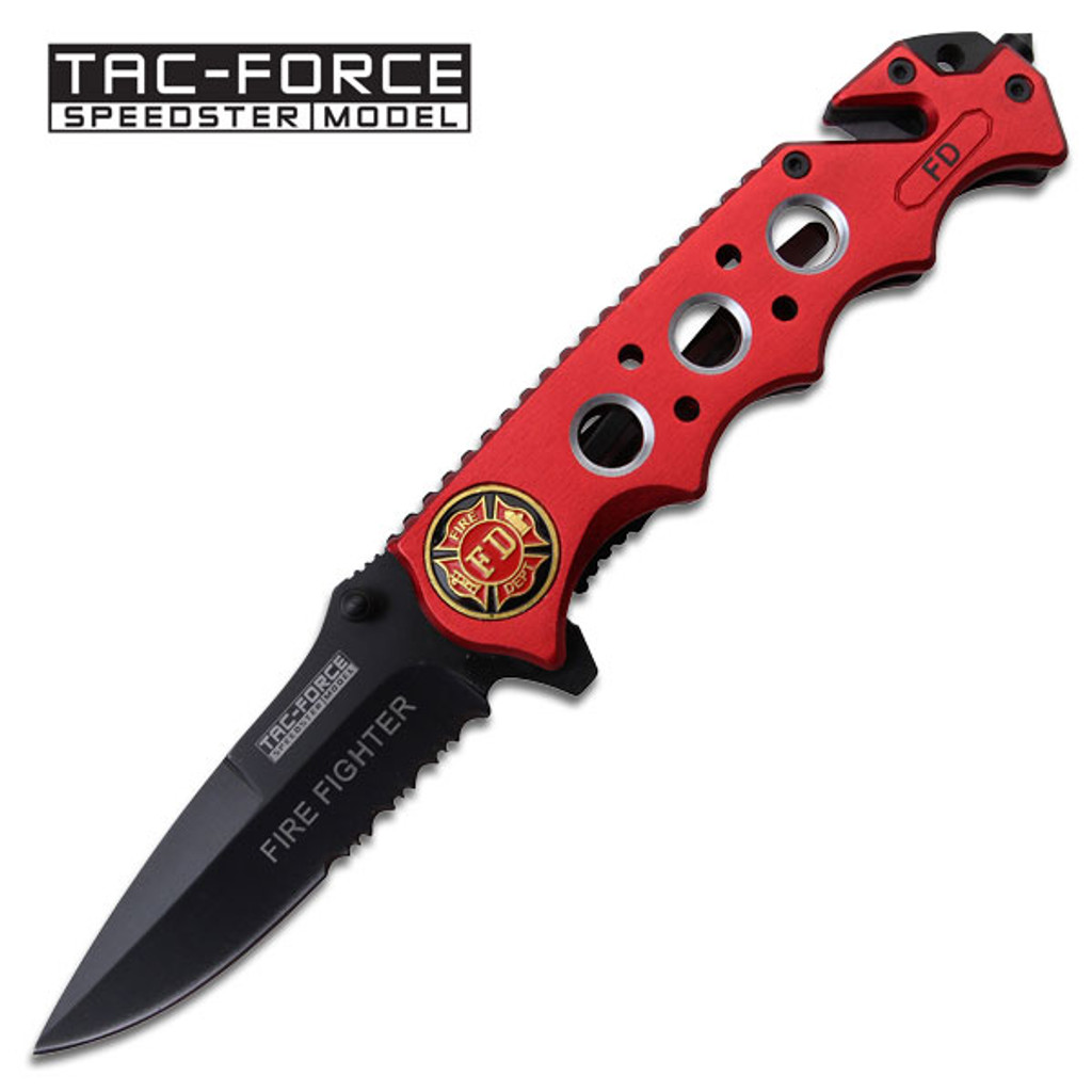 Tac Force 3.5 Inch Closed Spring Assisted Folding Knife Rainbow Titanium