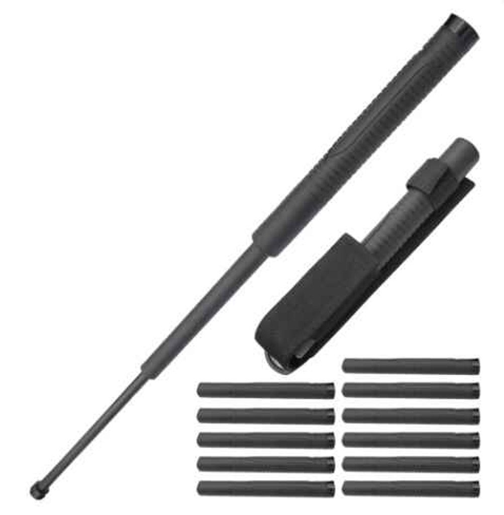 Knockout Knucks 12x Bundle Pack 22 Inch Baton Reinforced Plastic with Metal Core and Rubber Grip Handle