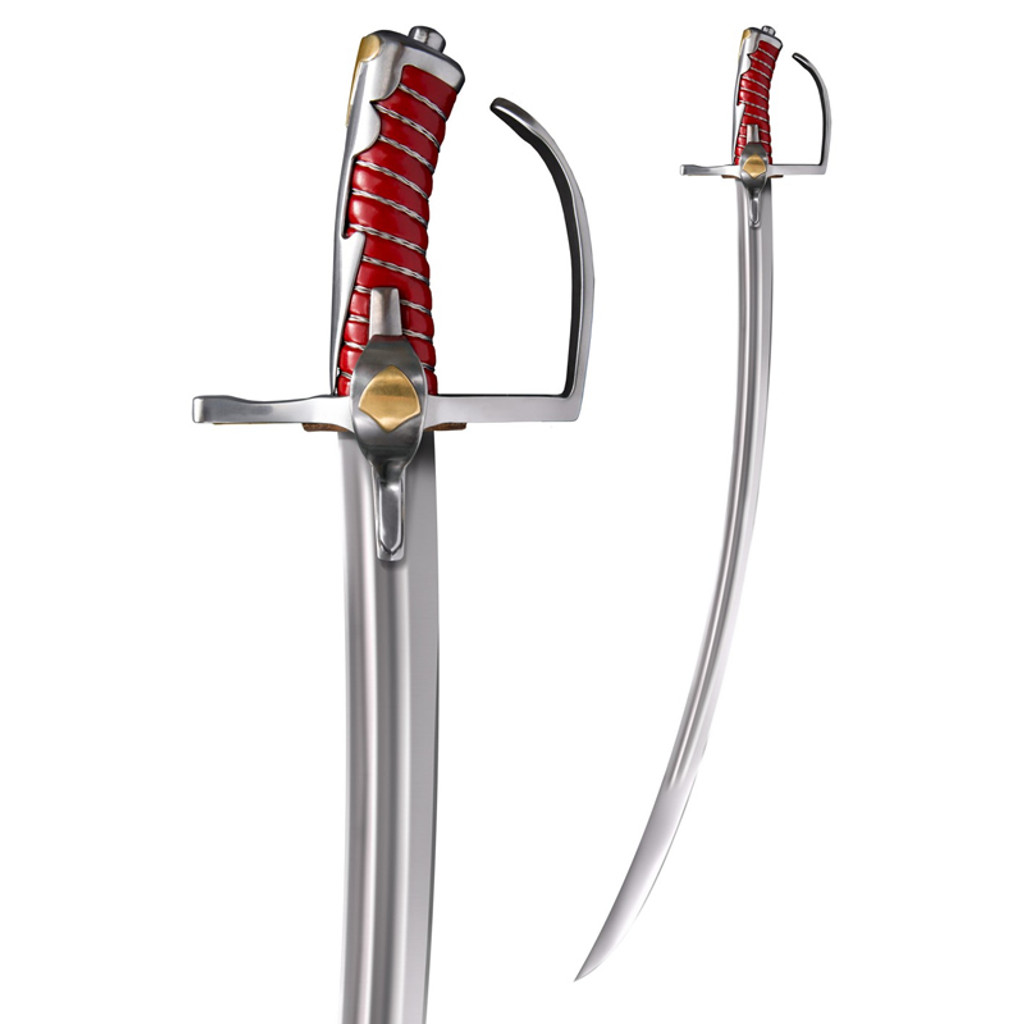 <p><big>The latest addition to our line-up of high-performance swords is inspired by examples of early 17th Century Polish Sabers.&nbsp;</big></p>  <p><big>Used both on horseback and on foot, these battlefield sabers had a fearsome reputation, not least for the skill-at-arms of the Polish Noblemen who wielded them, but also for their phenomenal cutting potential.&nbsp;</big></p>  <p><big>Our interpretation of this historically significant blade was designed by custom bladesmith Dave Baker, and is made from expertly heat treated Carbon Steel. With a fully sharpened, distal tapered and strongly curved blade, the Polish Saber is capable of delivering exceptional cuts, while still remaining stiff enough for the thrust.</big></p>  <p><big>Specifications:<br /> Blade Length: 32&quot;<br /> Blade Thick: 1/4&quot;<br /> Overall Length: 38&quot;<br /> Steel: 1055 Carbon<br /> Weight: 40 oz<br /> Handle: 6&quot;<br /> Scabbard: Red Leather Scabbard With Steel Fittings</big></p>